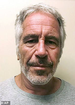 Epstein (pictured) was found dead last year in a New York prison cell, where he was being held on charges of sex-trafficking girls as young as 14