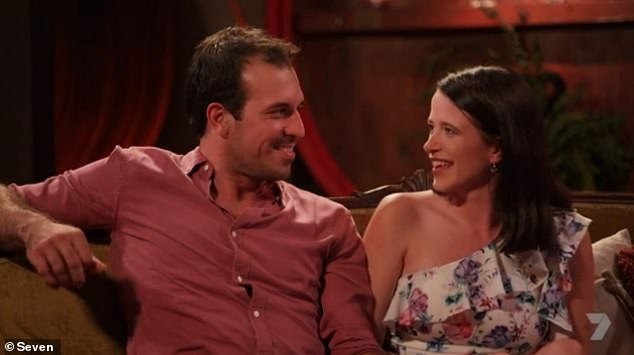 New (now old) love: Sam may not have seen the show out to the end, but he revealed he still managed to find love a new girlfriend Kirsten (right) during the finale. They have since broken up.